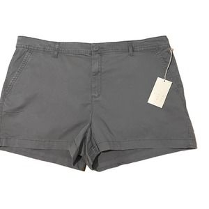 ANEWDAY Womens Stretch Chino Shorts Navy Blue 18